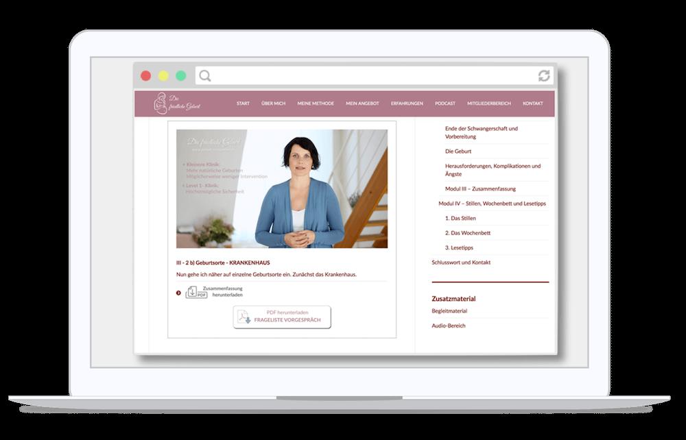 Geburtsvorbereitung HypnoBirthing Online Kurs